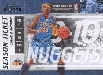 2009-10 Playoff Contenders #39 Carmelo Anthony