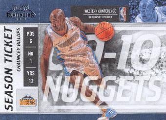 2009-10 Playoff Contenders #40 Chauncey Billups