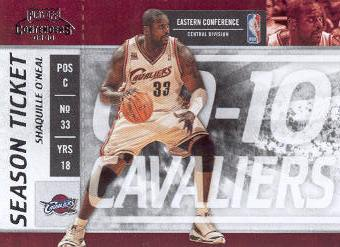 2009-10 Playoff Contenders #44 Shaquille O'Neal