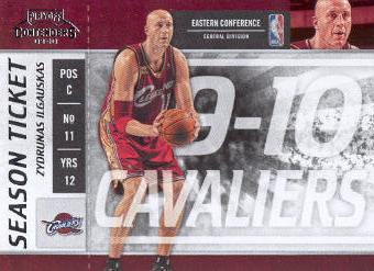 2009-10 Playoff Contenders #45 Zydrunas Ilgauskas
