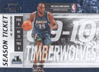2009-10 Playoff Contenders #46 Al Jefferson