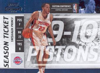 2009-10 Playoff Contenders #51 Tayshaun Prince