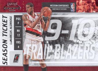 2009-10 Playoff Contenders #54 LaMarcus Aldridge