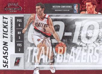 2009-10 Playoff Contenders #55 Rudy Fernandez