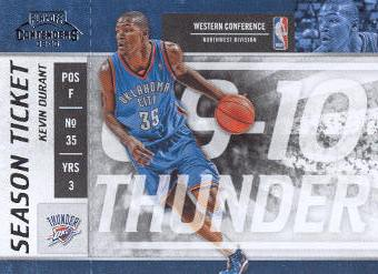 2009-10 Playoff Contenders #60 Kevin Durant