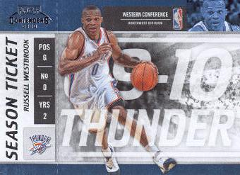 2009-10 Playoff Contenders #61 Russell Westbrook