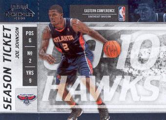 2009-10 Playoff Contenders #68 Joe Johnson