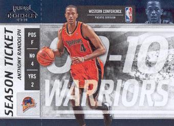 2009-10 Playoff Contenders #71 Anthony Randolph