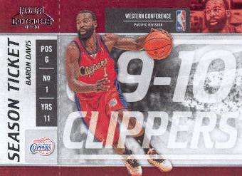 2009-10 Playoff Contenders #79 Baron Davis