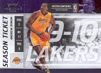 2009-10 Playoff Contenders #85 Andrew Bynum