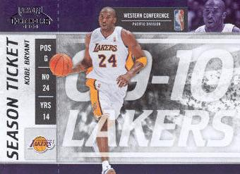 2009-10 Playoff Contenders #86 Kobe Bryant