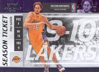 2009-10 Playoff Contenders #87 Pau Gasol