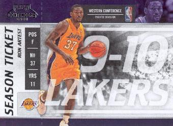 2009-10 Playoff Contenders #88 Ron Artest