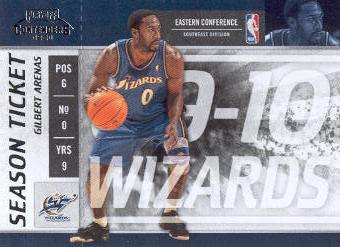 2009-10 Playoff Contenders #97 Gilbert Arenas