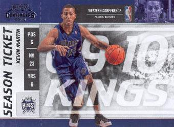 2009-10 Playoff Contenders #99 Kevin Martin