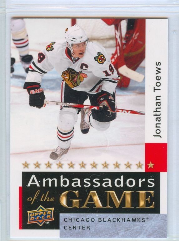 2009-10 Upper Deck Ambassadors of the Game #AG52 Jonathan Toews SP