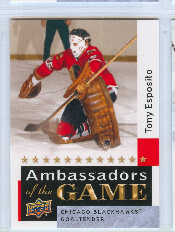2009-10 Upper Deck Ambassadors of the Game #AG53 Tony Esposito SP