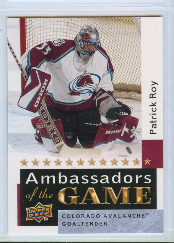 2009-10 Upper Deck Ambassadors of the Game #AG54 Patrick Roy SP