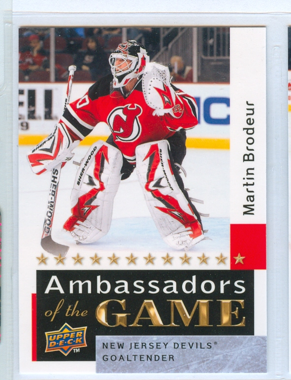 2009-10 Upper Deck Ambassadors of the Game #AG55 Martin Brodeur SP