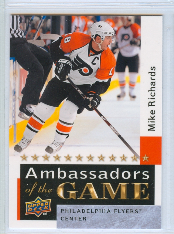 2009-10 Upper Deck Ambassadors of the Game #AG58 Mike Richards SP