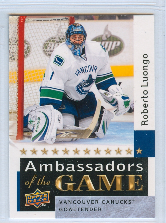 2009-10 Upper Deck Ambassadors of the Game #AG60 Roberto Luongo SP