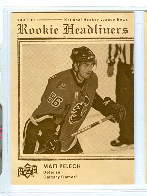 2009-10 Upper Deck Rookie Headliners #RH1 Matt Pelech