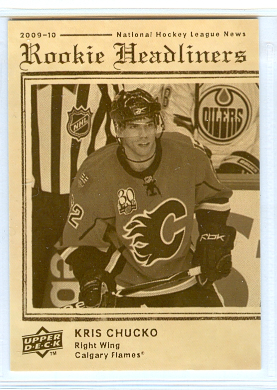 2009-10 Upper Deck Rookie Headliners #RH2 Kris Chucko