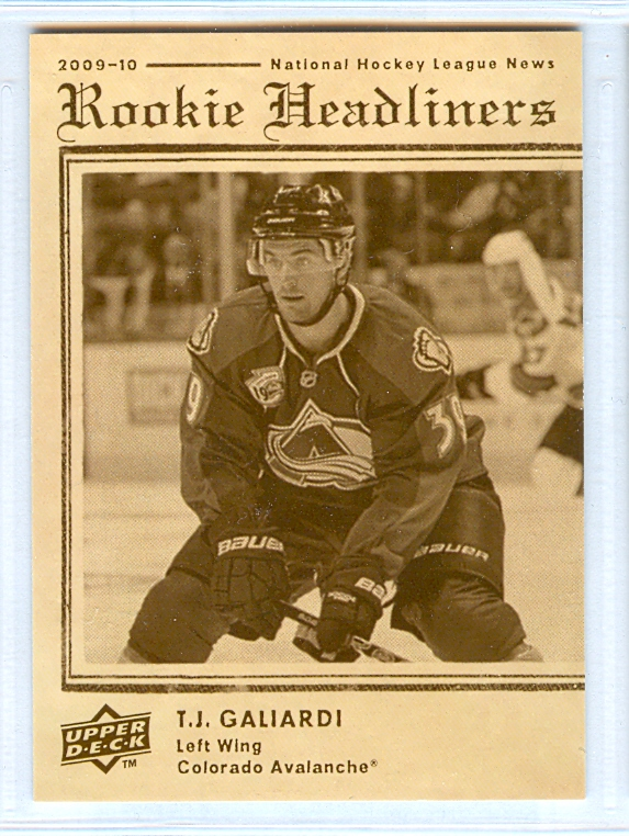 2009-10 Upper Deck Rookie Headliners #RH5 T.J. Galiardi