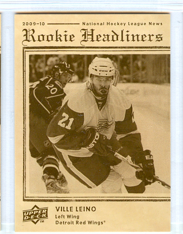 2009-10 Upper Deck Rookie Headliners #RH8 Ville Leino