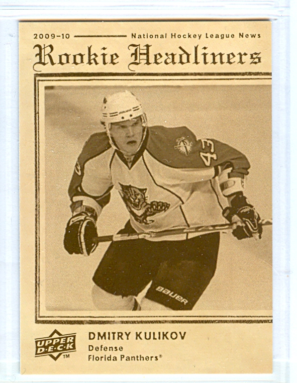 2009-10 Upper Deck Rookie Headliners #RH9 Dmitry Kulikov