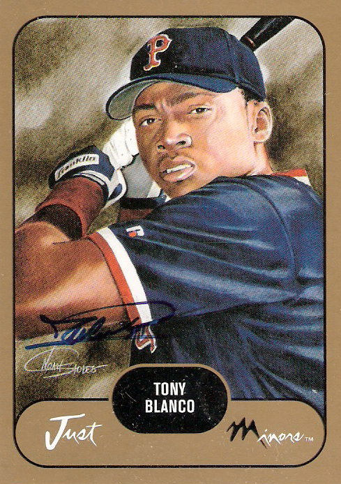 2002 Just Prospects Autographs Gold #5 Tony Blanco/300