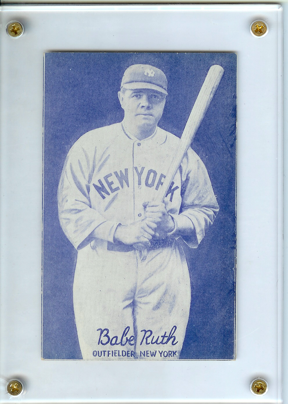 1926-29 Exhibits Postcard-Back #28 Babe Ruth/Pose