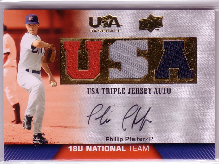2009-10 USA Baseball 18U National Team Jersey Autographs #PP Phillip Pfeifer/39