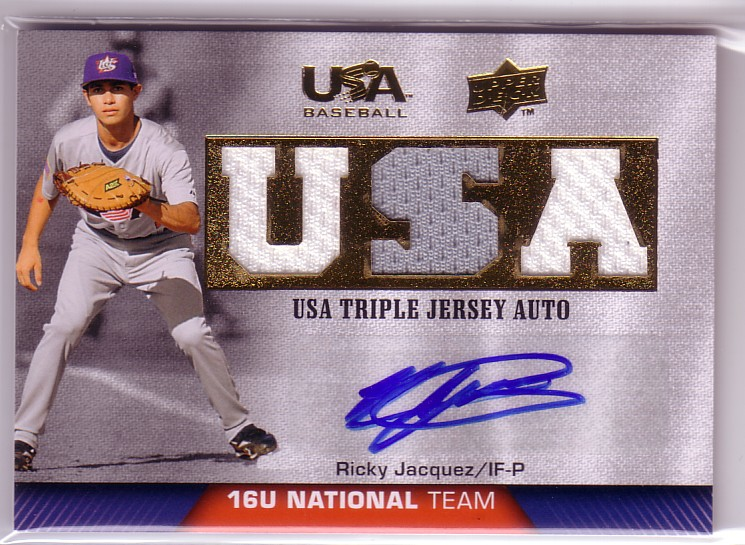 2009-10 USA Baseball 16U National Team Jersey Autographs #RJ Ricardo Jacquez