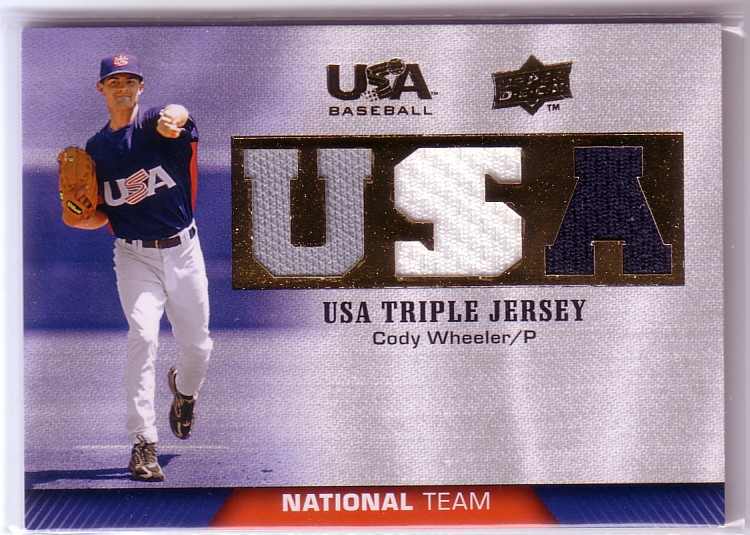 2009-10 USA Baseball National Team Jerseys #CW Cody Wheeler