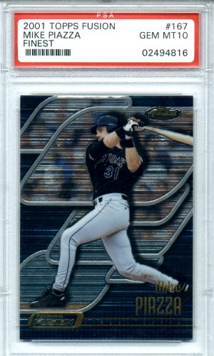 2001 Topps Fusion #167 Mike Piazza PSA Gem Mint 10 BEAUTIFUL!!