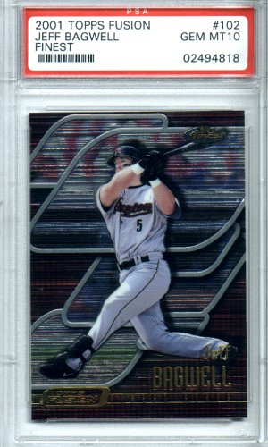 2001 Topps Fusion #102 Jeff Bagwell PSA Gem Mint 10 Awesome Topps Finest Astros!! BEAUTIFUL!