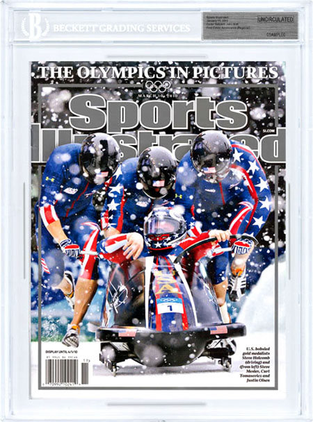 SPORTS ILLUSTRATED BGS SI Uncirculated STEVE HOLCOMB Bobsled OLYMPICS 3/10/2010
