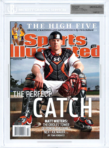 SPORTS ILLUSTRATED BGS SI Uncirculated MATT WIETERS 1st Cover front image