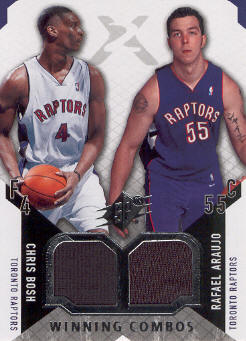 2004-05 SPx Winning Materials Combos #BA Chris Bosh/Rafael Araujo