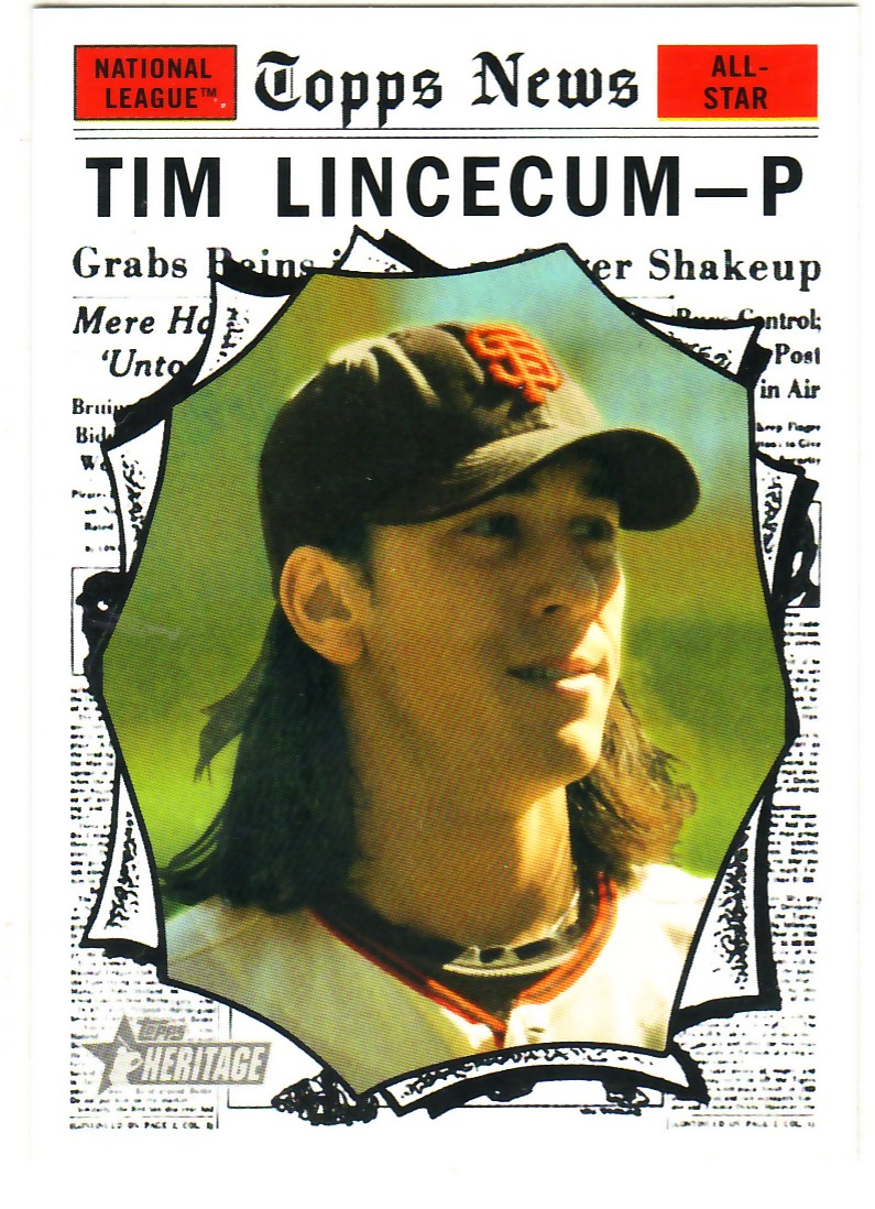 2010 Topps Heritage #496 Tim Lincecum AS SP
