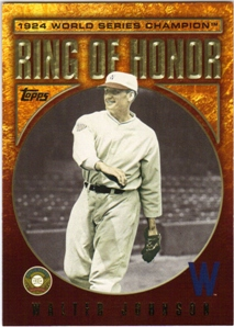 2009 Topps Ring Of Honor #RH84 Walter Johnson