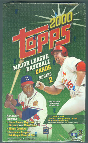 2000 Topps Series 2 Retail Factory Sealed Unopened Box (36 Packs)