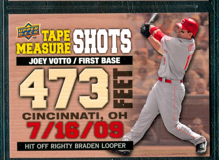 2010 Upper Deck Tape Measure Shots #TMS3 Joey Votto