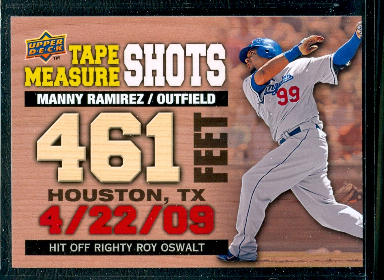 2010 Upper Deck Tape Measure Shots #TMS14 Manny Ramirez