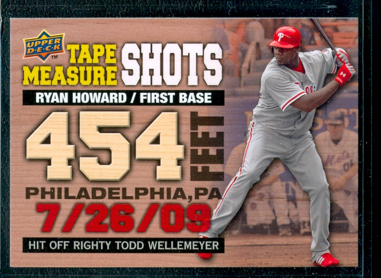 2010 Upper Deck Tape Measure Shots #TMS23 Ryan Howard