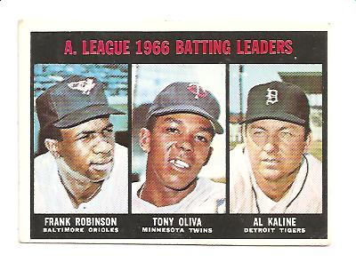 1967 Topps #239 AL Batting Leaders/Frank Robinson/Tony Oliva/Al Kaline