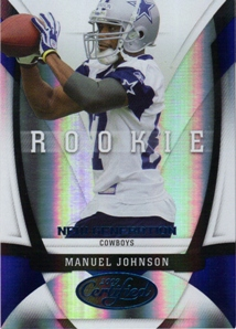 2009 Certified Mirror Blue #177 Manuel Johnson