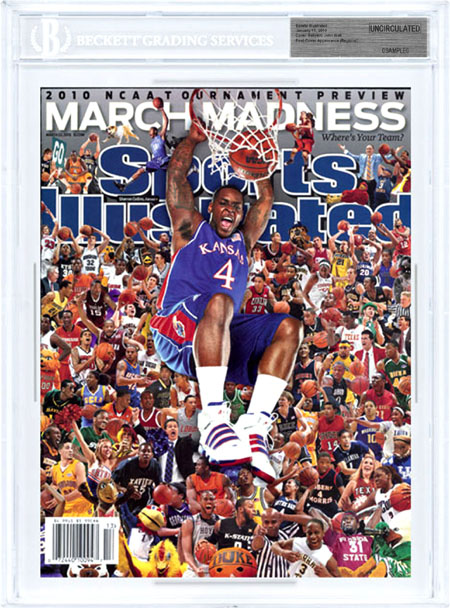 SPORTS ILLUSTRATED BGS Uncirculated SHERRON COLLINS 3/22/10 Regional Cover front image