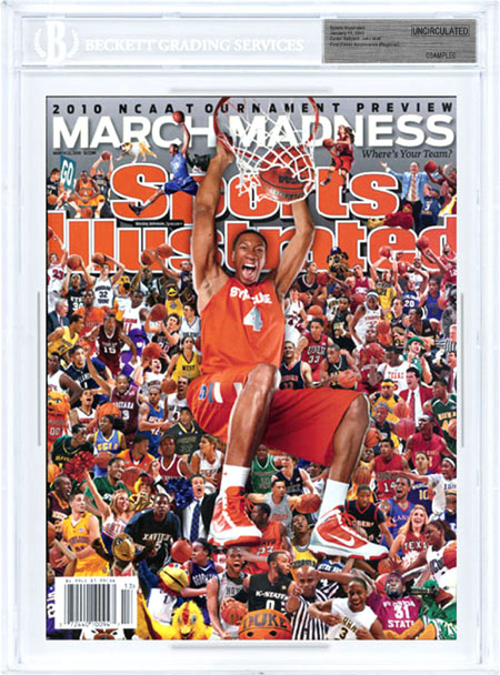 SPORTS ILLUSTRATED BGS Uncirculated WESLEY JOHNSON 3/22/10 Regional SYRACUSE